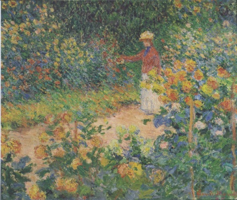 In the Garden by Claude Monet, 1895